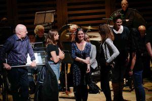 Peter Broadbent, Eloise Irving, Hannah Poulsom, Members Of FMCG Hall One Rehearsal
